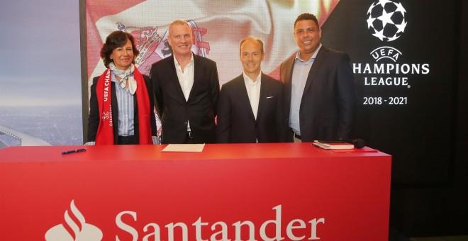 Santander patrocinará la Champions League tres años, y deja el de Ferrari en Fórmula 1
