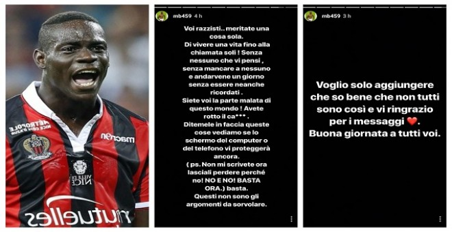 """Balotelli denuncia insultos xenófobos: """"Los racistas merecéis vivir solos hasta la muerte"""""""