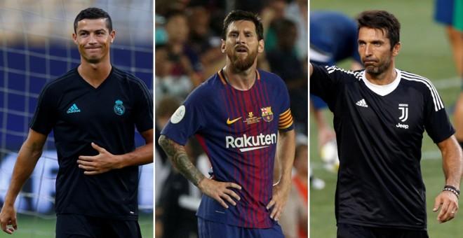 Ronaldo, Messi y Buffon, finalistas al Mejor Jugador del Año de la UEFA