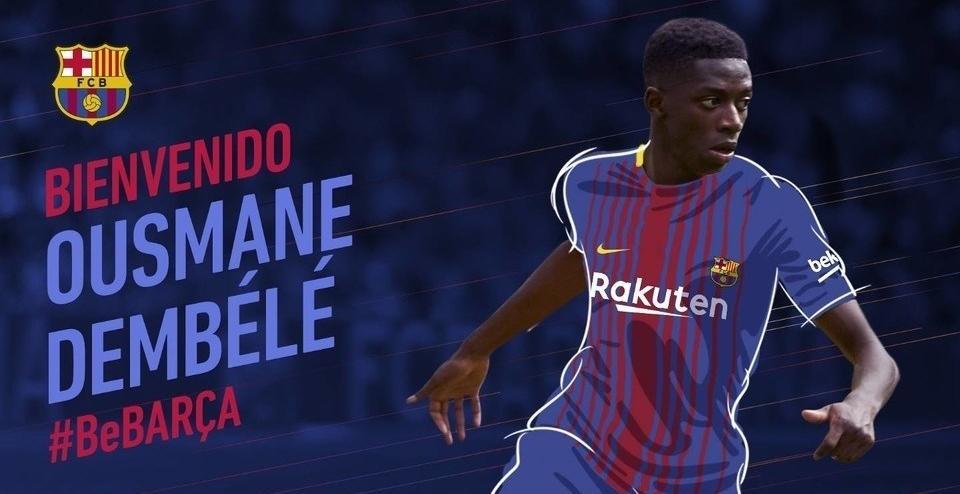 El Barcelona confirma el fichaje de Dembélé por 105 millones más 40 variables