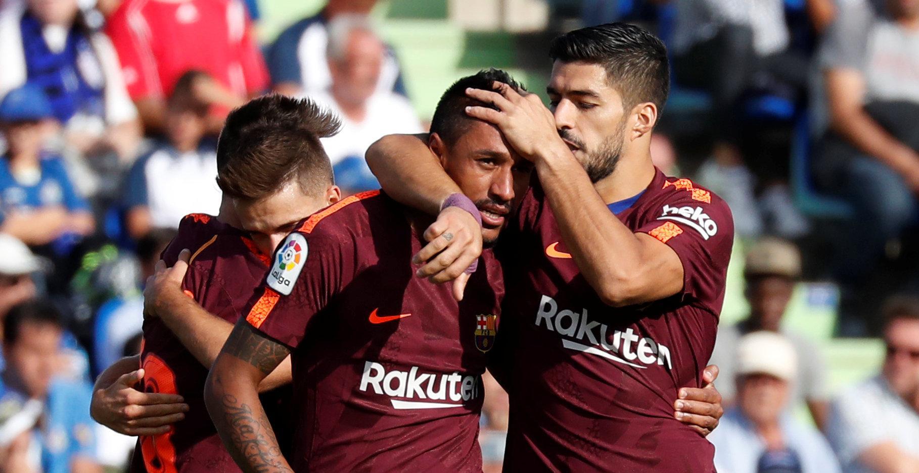 Denis Suárez y Paulinho desatascan al Barcelona