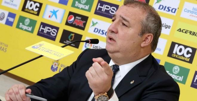 En libertad provisional el presidente de la UD Las Palmas tras ser detenido por un delito contra la Seguridad Social