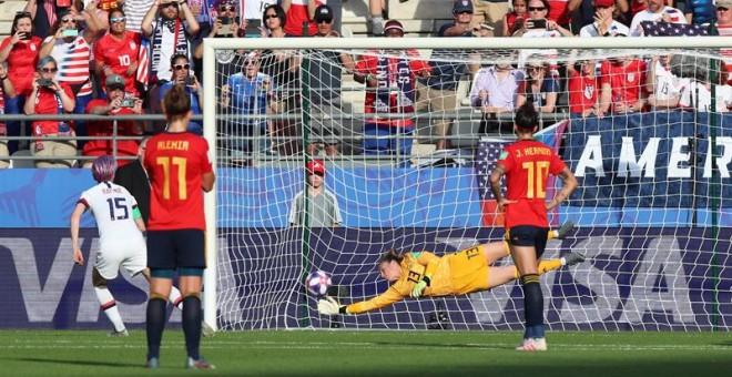 Dos penaltis en contra ante EEUU echan a España del Mundial
